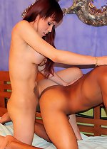 Hung stud gets pounded by shemale