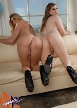 Hot tgirls Tiffany & Angelina blowing each other
