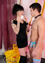 Dirty tgirl Kelly fucking with a sissy